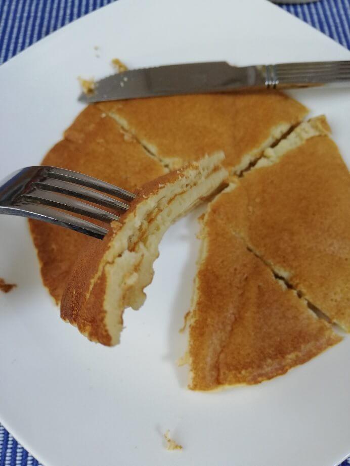 ファインラボのパンケーキ実食
