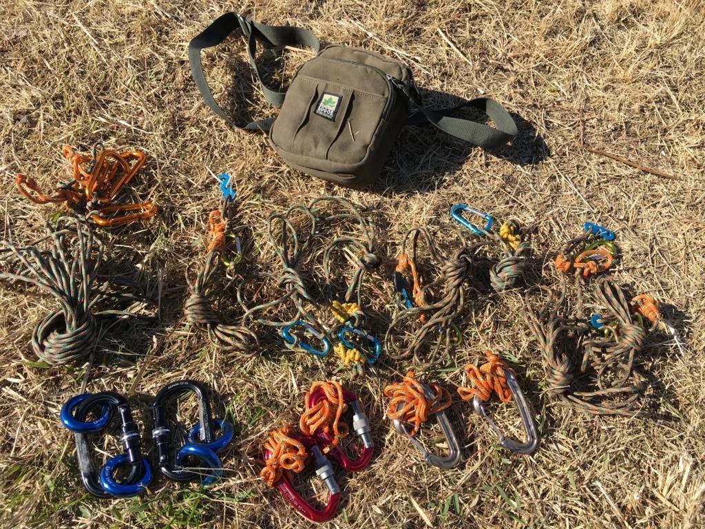 パラコードでガイロープ自作 キャンプ用セット