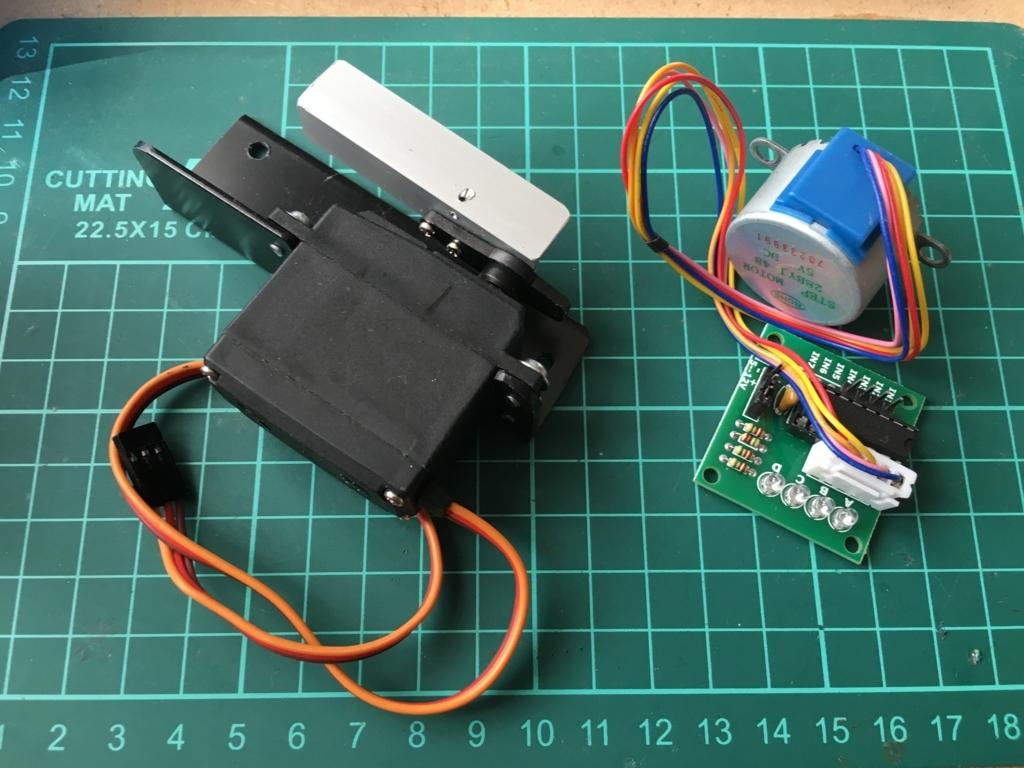 JB23ジムニー フリップダウンモニター自作 ステップモーターとサーボモーター