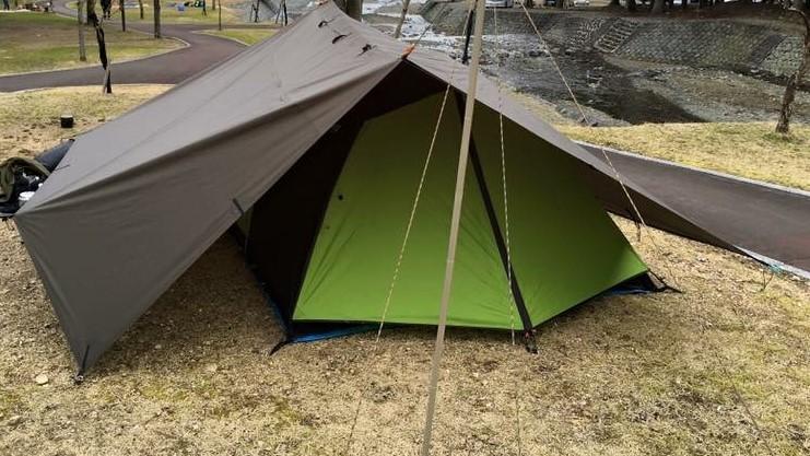 雨の日のテント設置方法 強風の場合