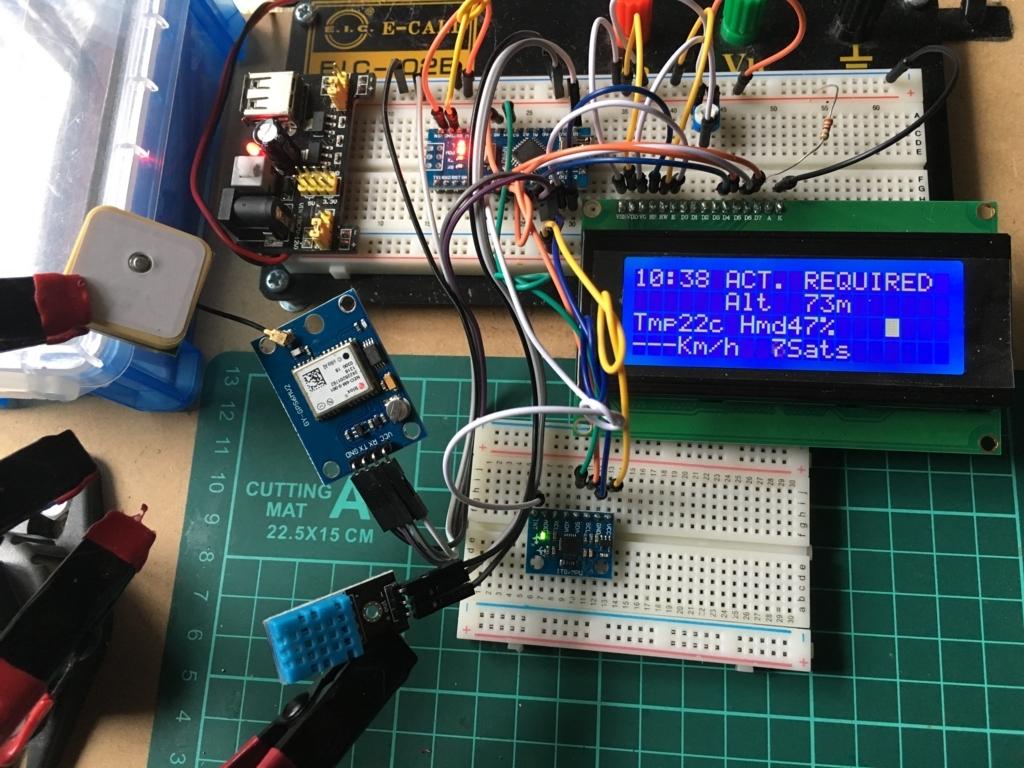 Arduinoで作るコクピットモニター ブレッドボードで試作