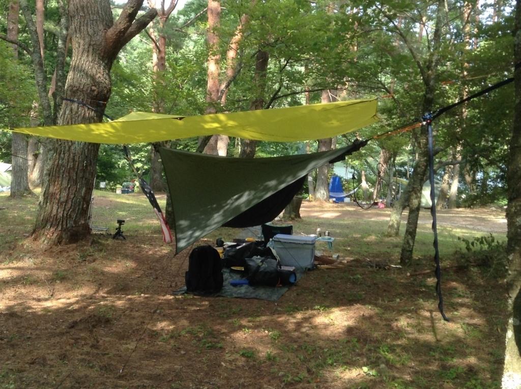 キャンプでは、星添えアを見ながらハンモックで快適に寝たい