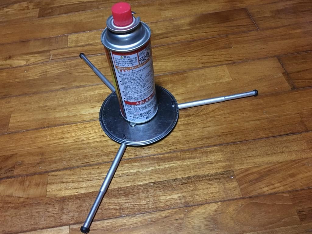 コンパクトなCB缶ホルダー(スタンド)を100均グッズで用自作
