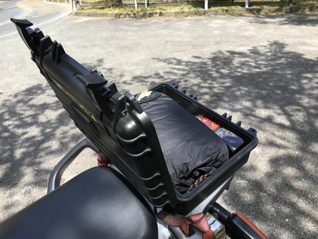 バイクの小物入れにちょうどいいプロテクターツールケース