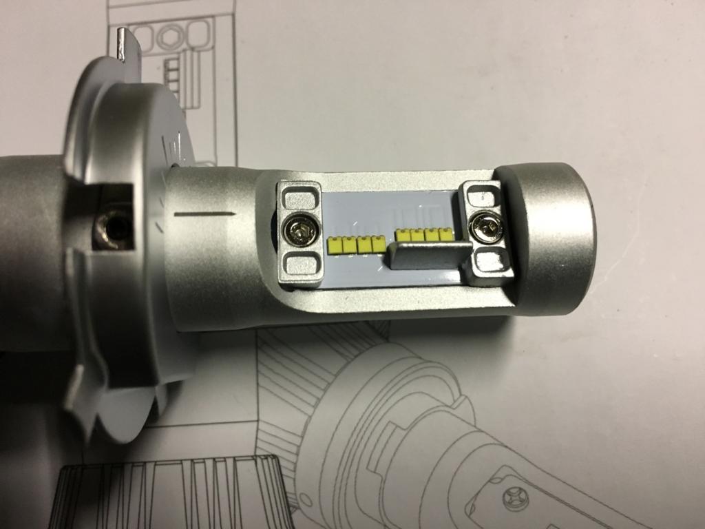 車検が通ったH4型LEDバルブ(カットラインや配光など)