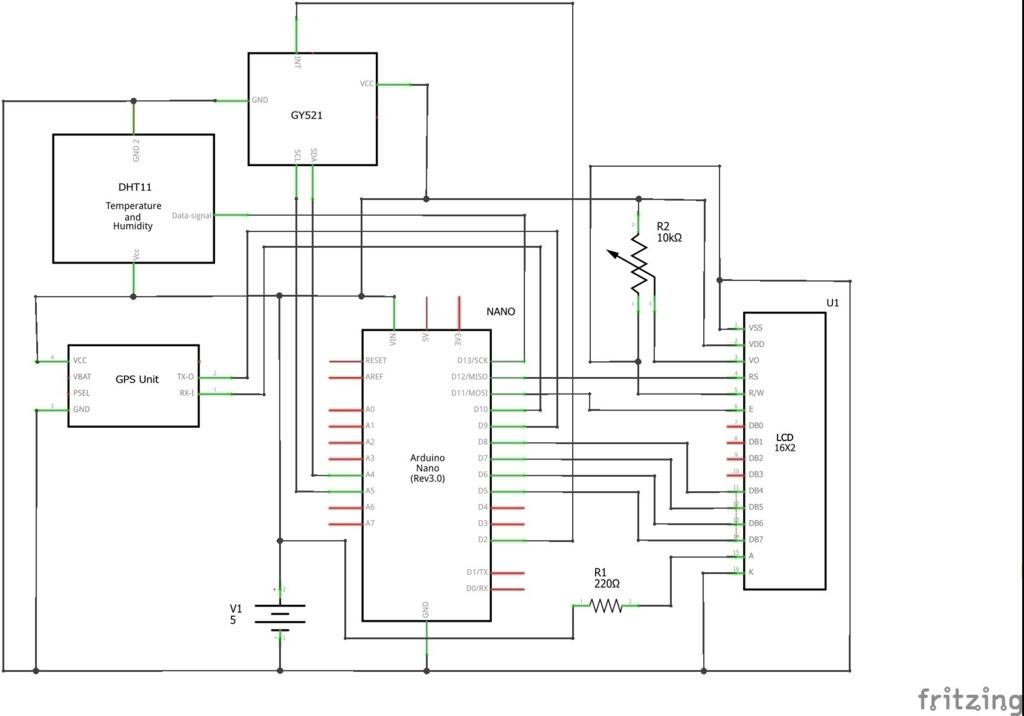 ArduinoとGY-521(MPU-6050)を使うスケッチ(プログラム)~ArduinoとLCDでコクピット情報を表示