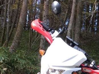 オフロードバイクのミラーをよく壊すので思いついた暫定処置と激安ミラー