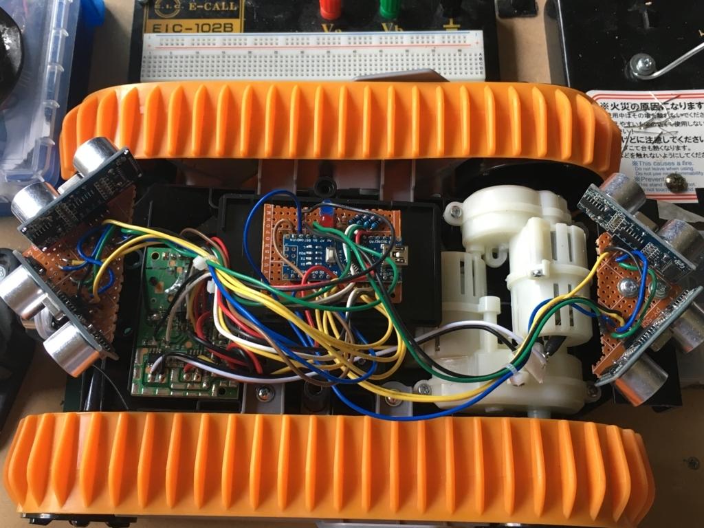Arduinoをトイラジコンに装着して自動走行ロボット完成
