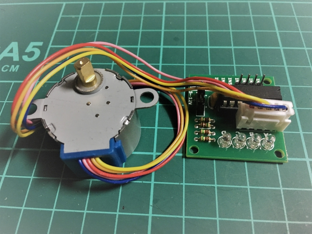 ステップモーター28BYJ-48をArduino で制御して、電動開閉テーブルを自作