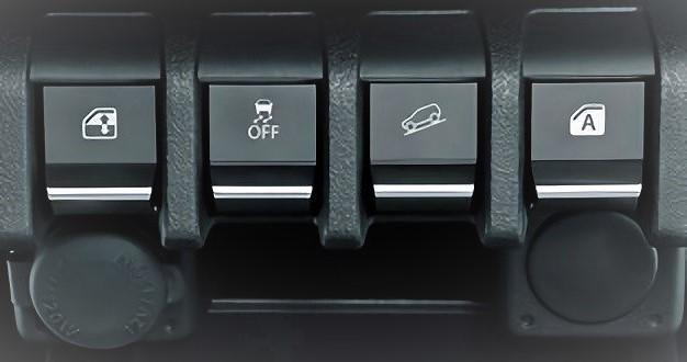 JB64のパワーウインドウスイッチは中央に移動