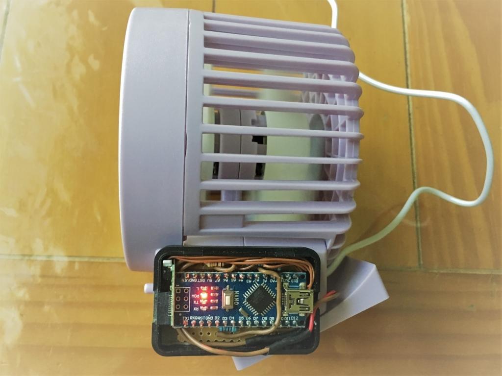 USB扇風機を癒しの1/fゆらぎ風に改造して、パソコン前スペースを快適化
