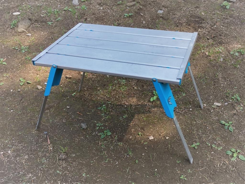 キャプテンスタッグのアルミロールテーブル。天板を高く強くする簡単DIY