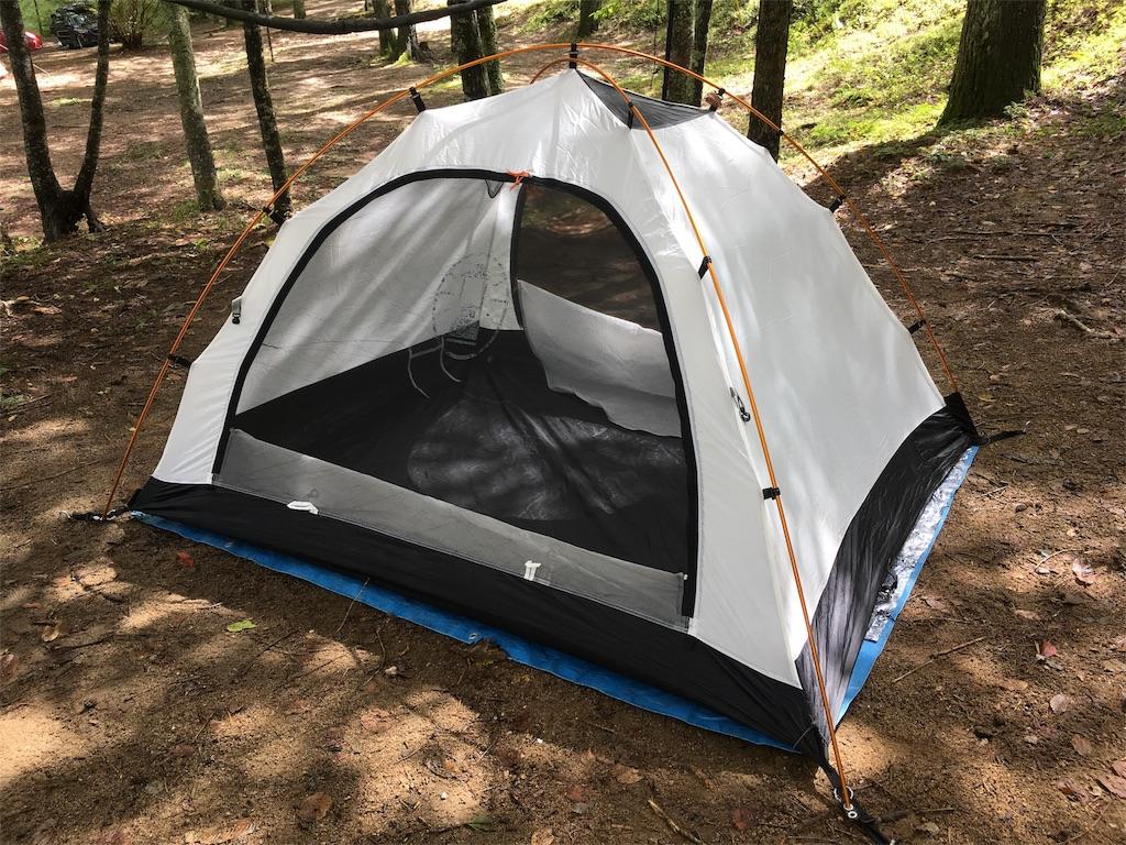 FRPのメインポールをアルミに変えて、テントを軽量化。コールマン ツーリングドーム