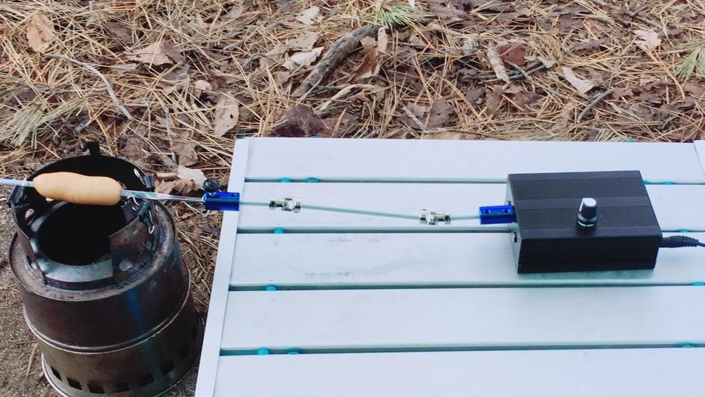 ロティサリーBBQをコンパクトに楽しもう!Arduinoと28BYJ-48で小型の電動回転丸焼き器を自作