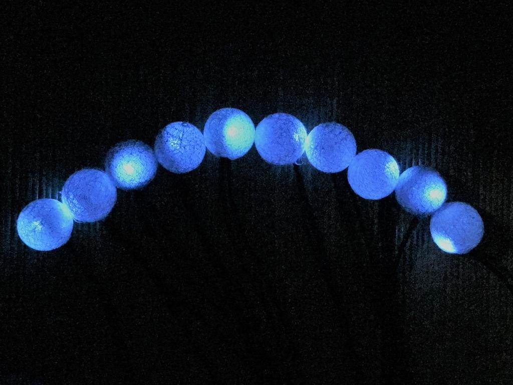 自作LEDイルミネーションで、テントまわりを安全に光らせてみます
