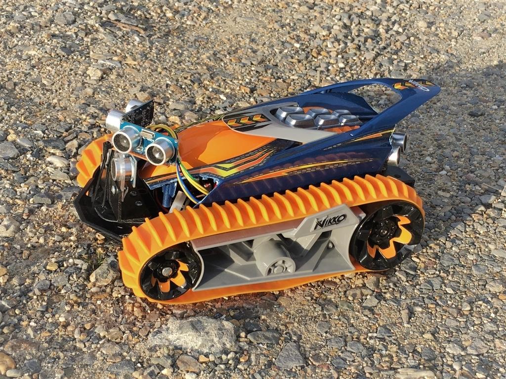Arduinoとステップモーター28BYJ-48で、ラジコンを自動走行させてみます