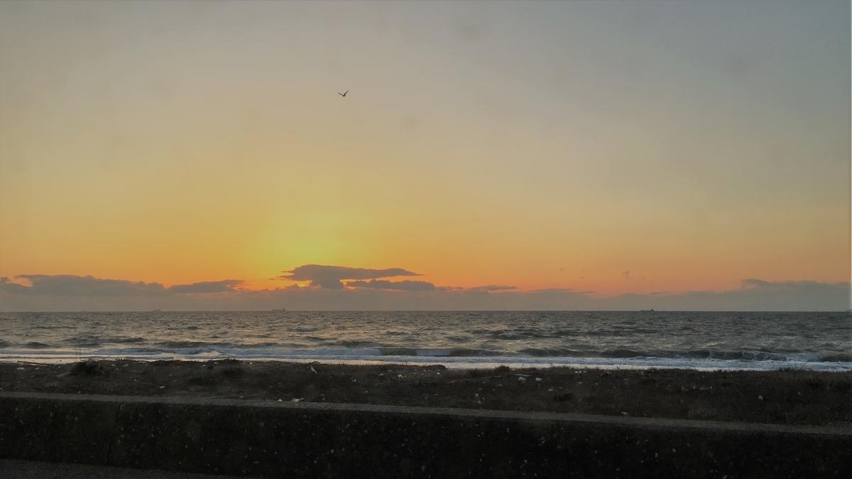 伊良湖岬の日の入り