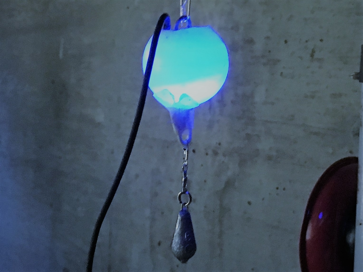 自作集魚灯の発光部