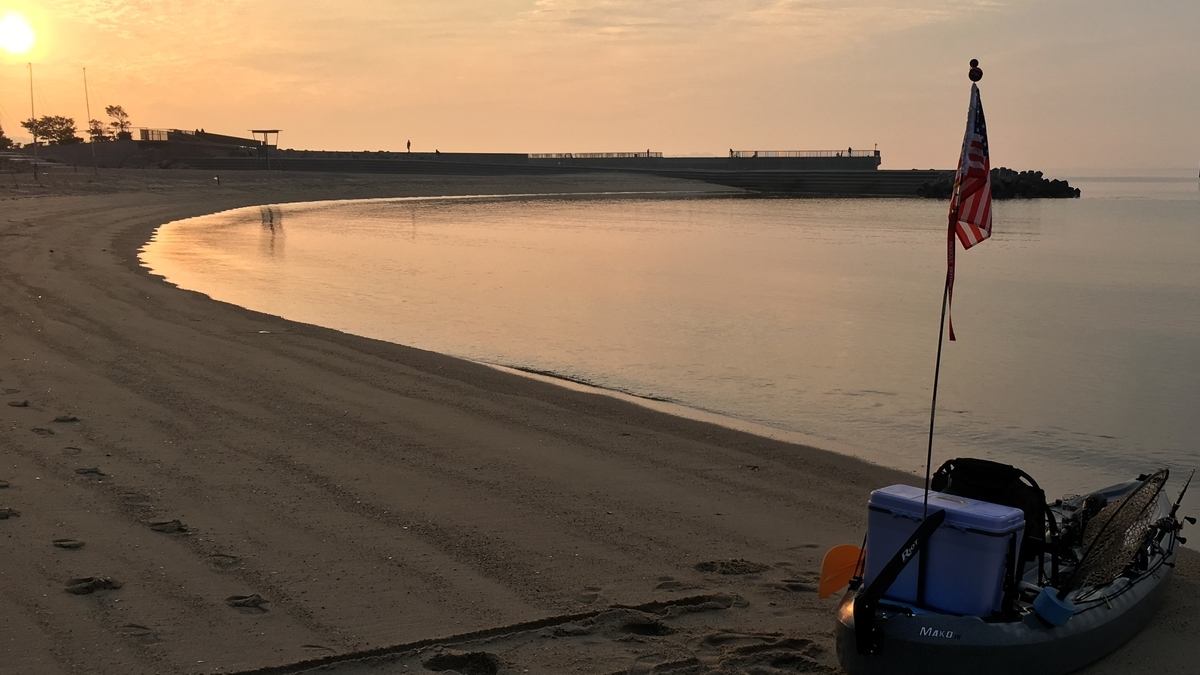 三河湾カヤックフィッシング。早朝の出艇