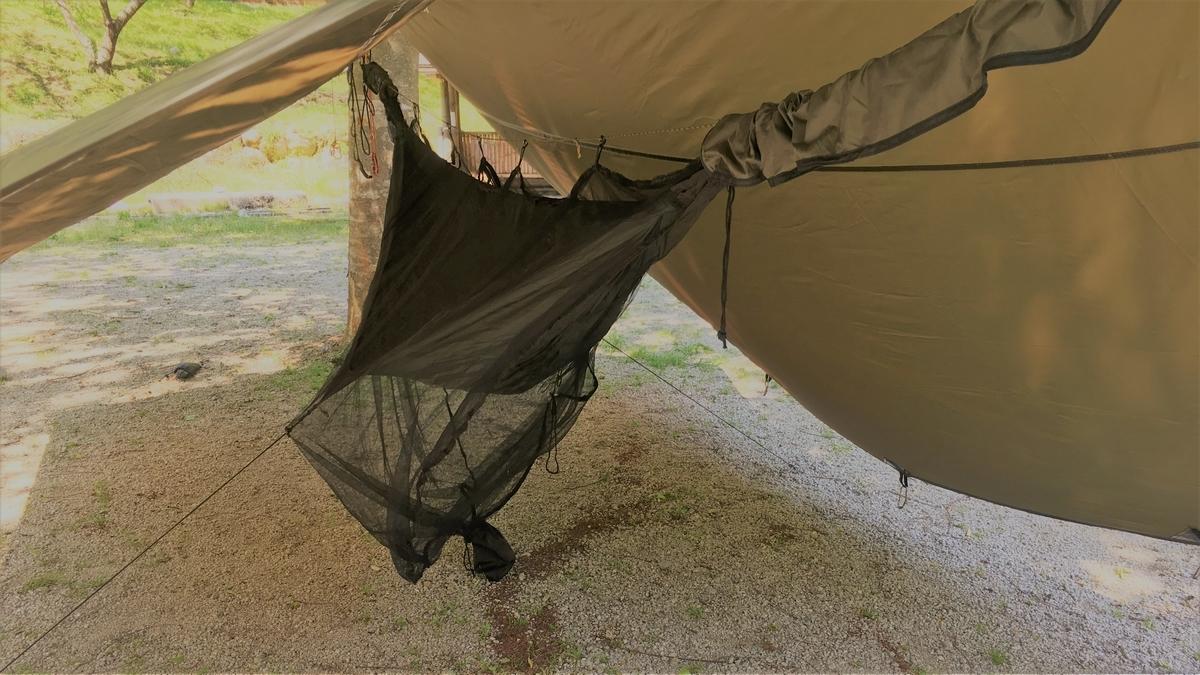 雨でも平気なハンモックキャンプ