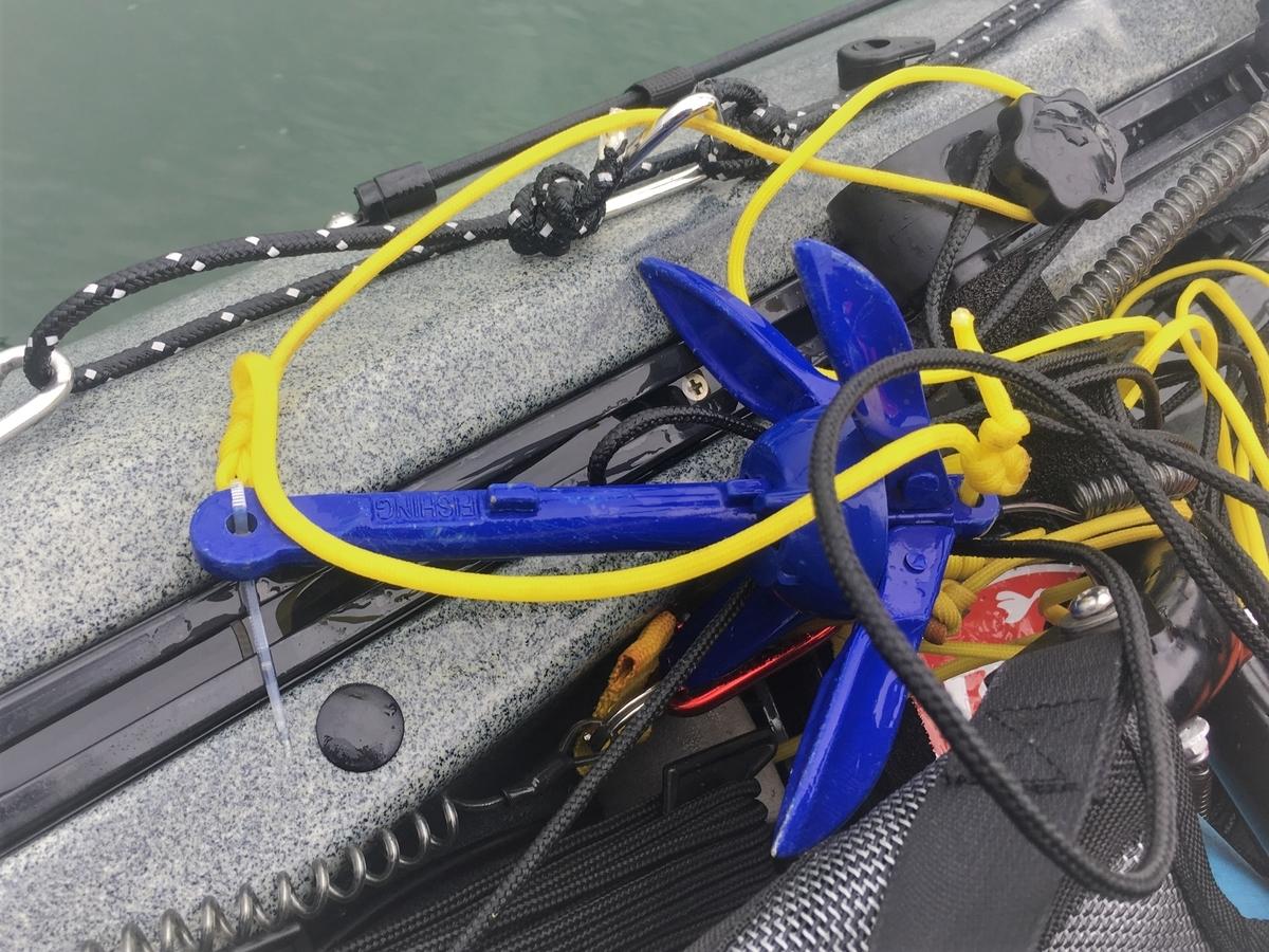カヤックで使うアンカー。根掛かり時の回収システムを組む