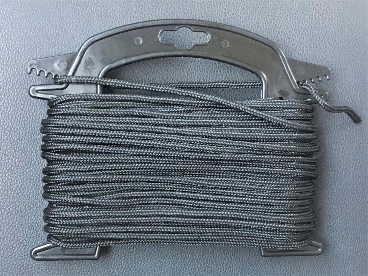 カヤックで使うアンカー用のロープ