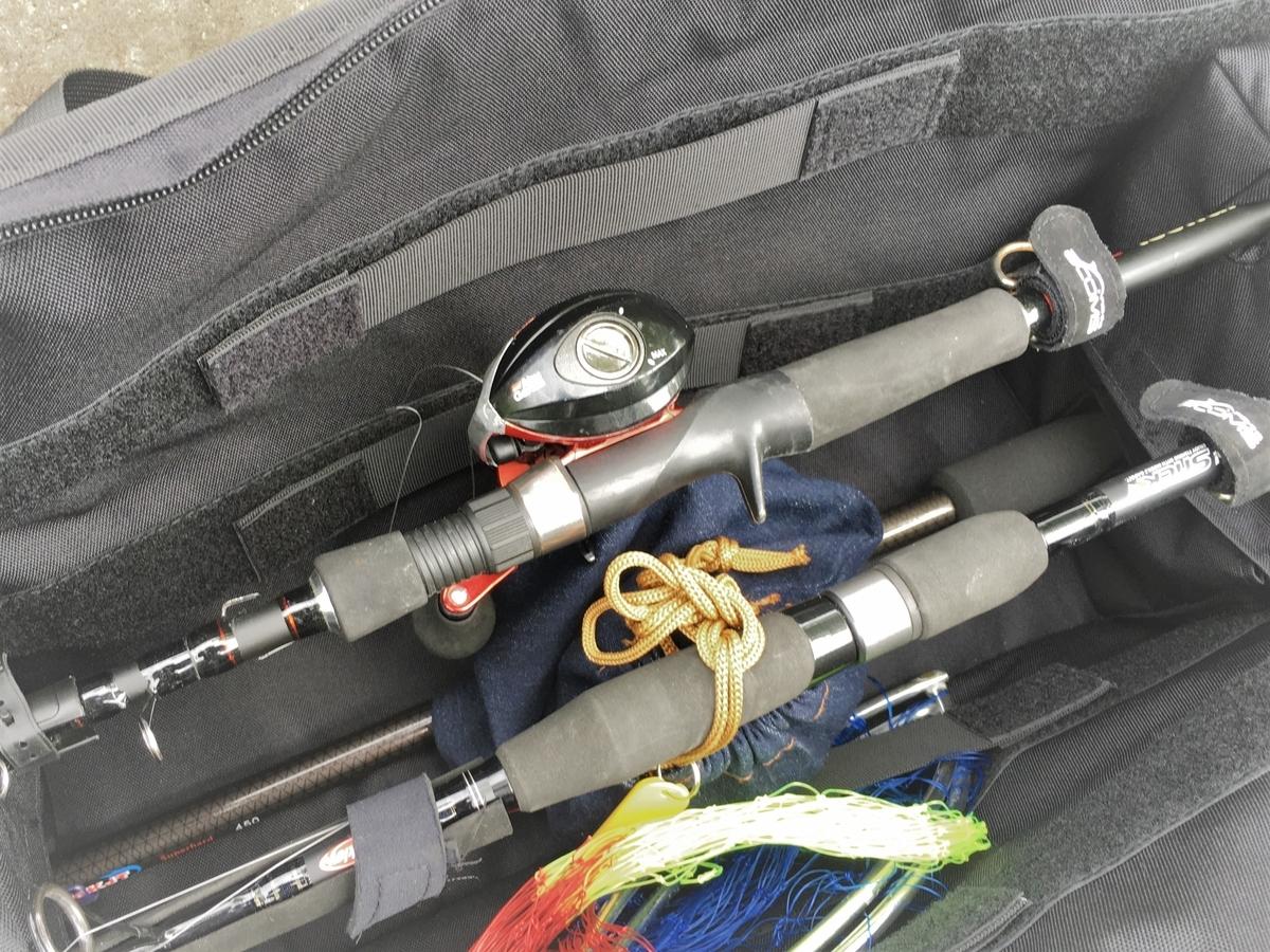 釣り竿(ロッド)が3本入るタクティカルなロッドケース