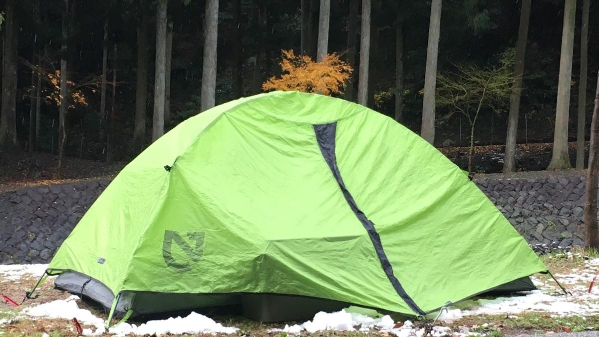 ソロキャンプに似合うNEMOのテント