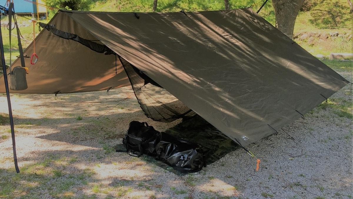 DDタープをpup tentのように使ってみる