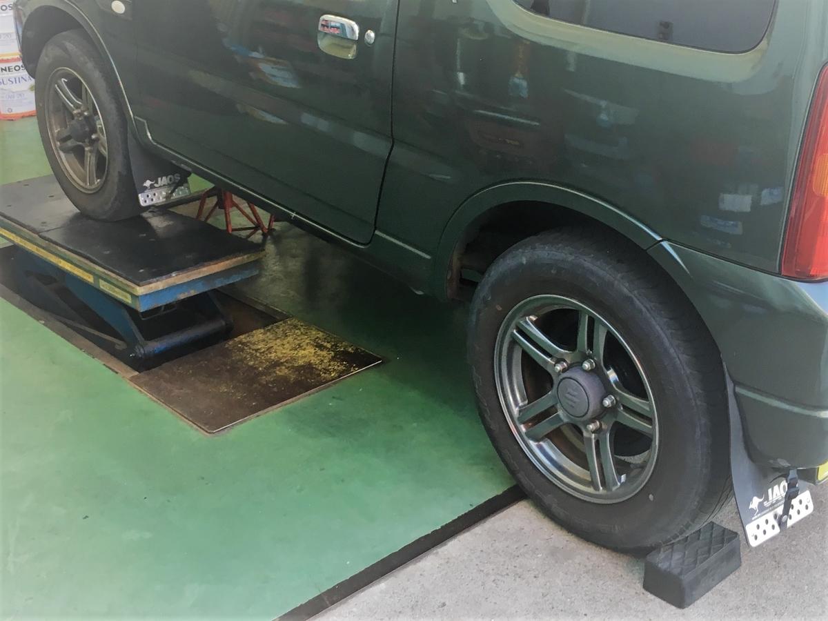 TIREHOODさんで買ったタイヤを近くのGSで交換します