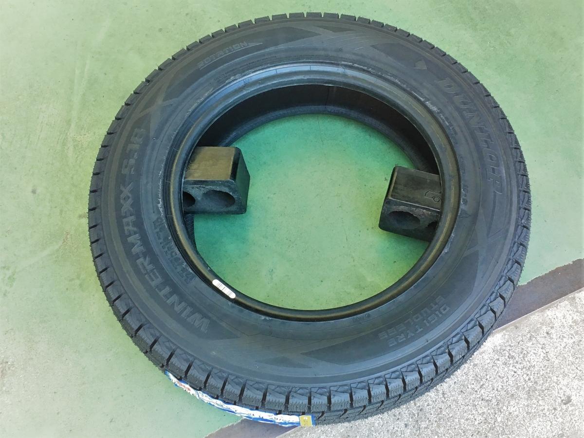 平積みするとタイヤを組むのが大変