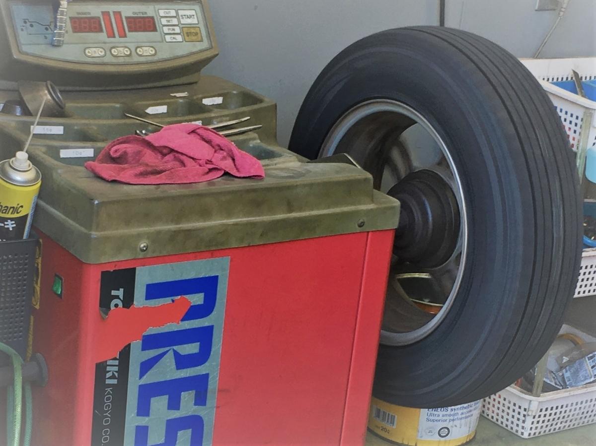 TIREHOODさんで買ったタイヤのバランス取り作業