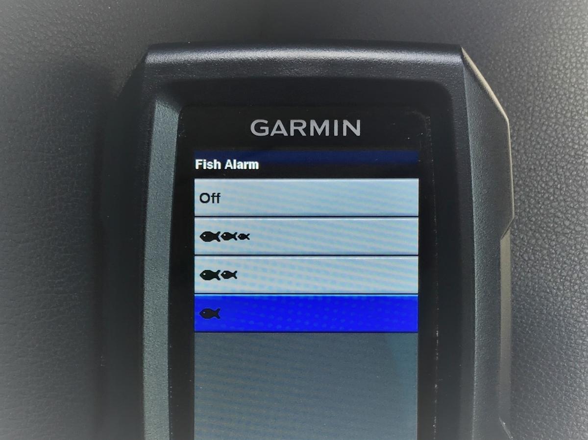 ガーミン ストライカー4の魚がいるよ警告設定