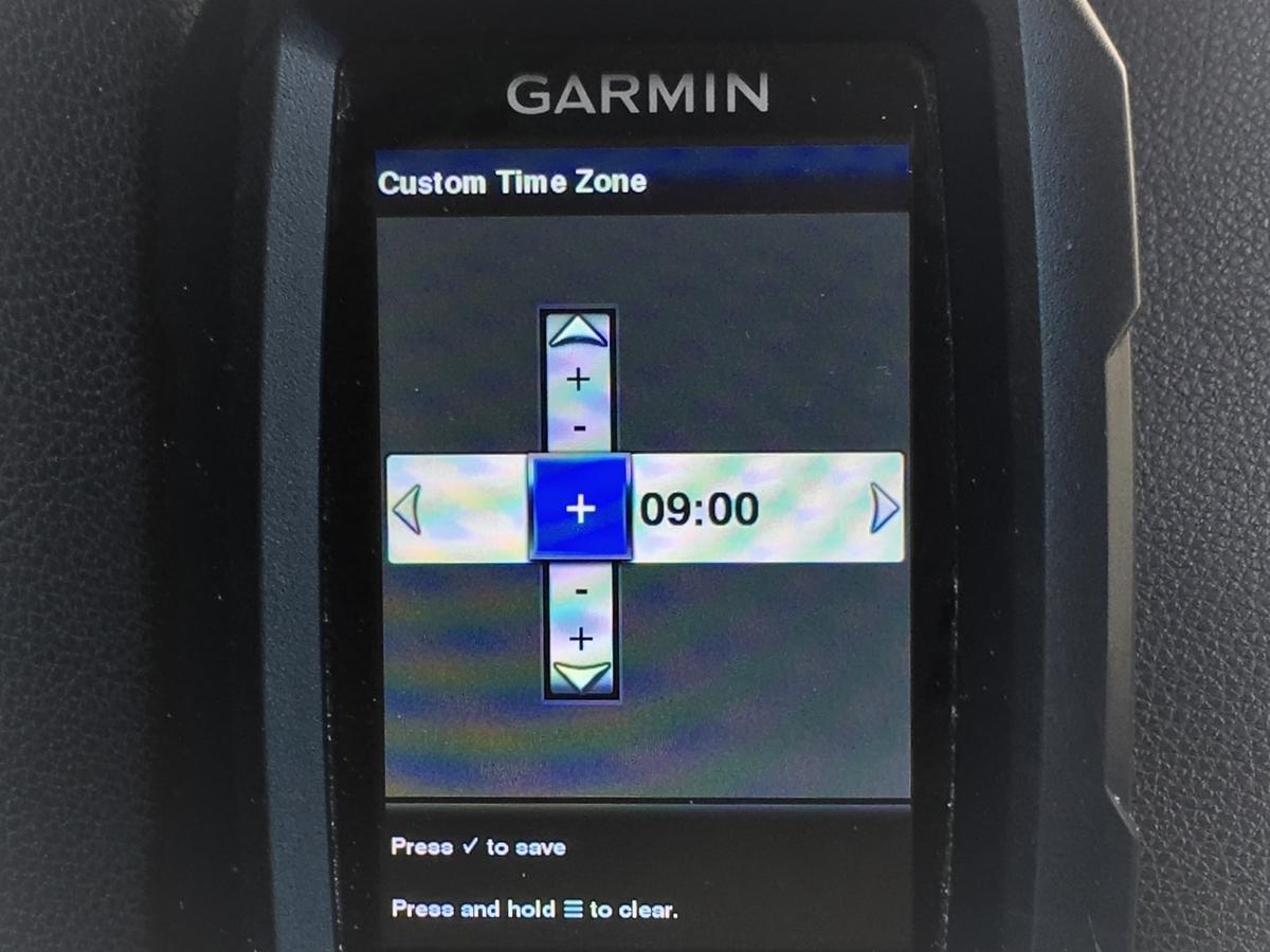 ガーミン ストライカー4の時計の設定