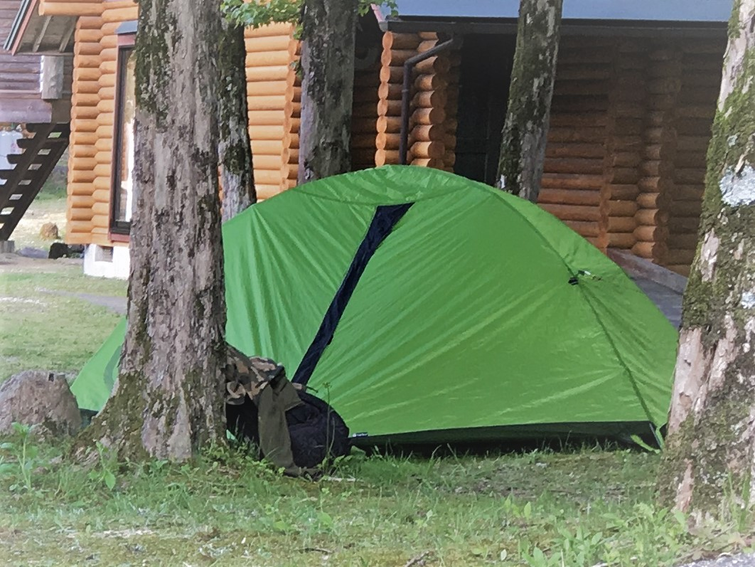 ハンモックとNEMOのテントを持っていく!