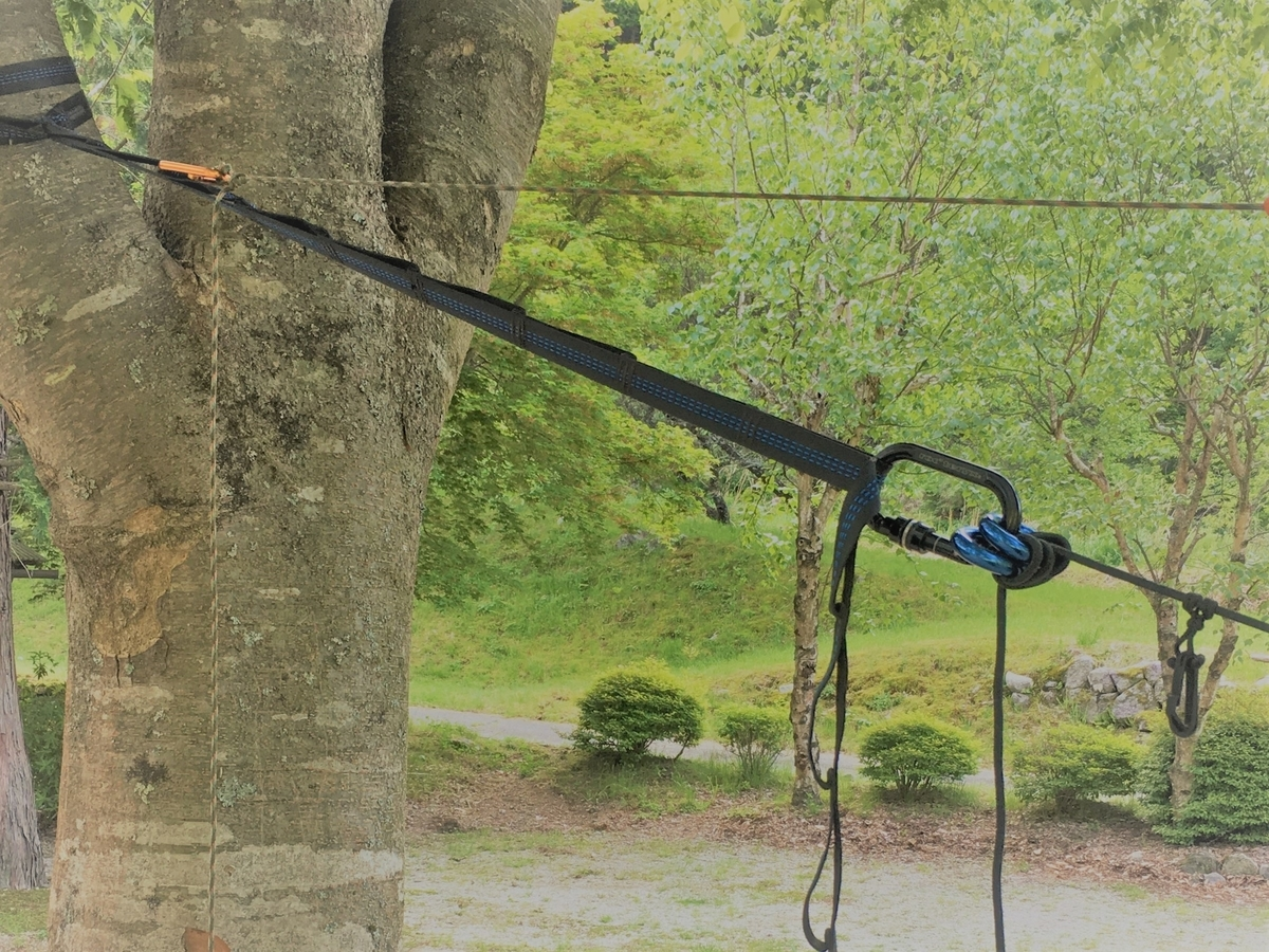 ハンモック説明 アルミのリングの使い方
