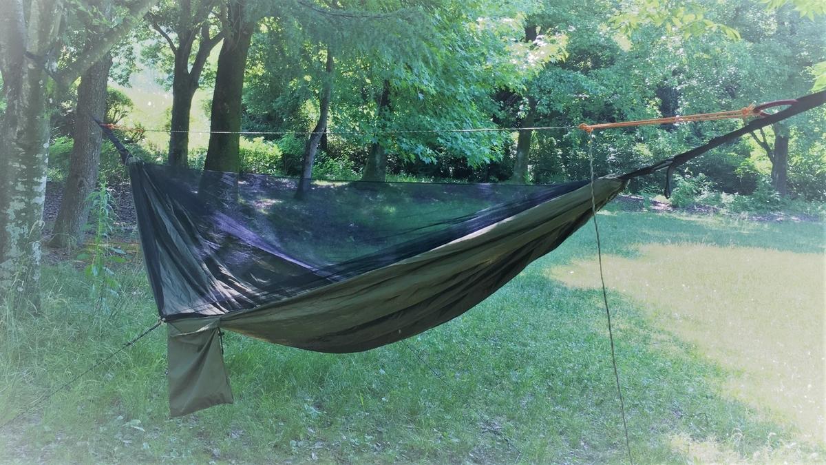 Lenzaiの進化したハンモックで手軽にソロキャンプを楽しむ