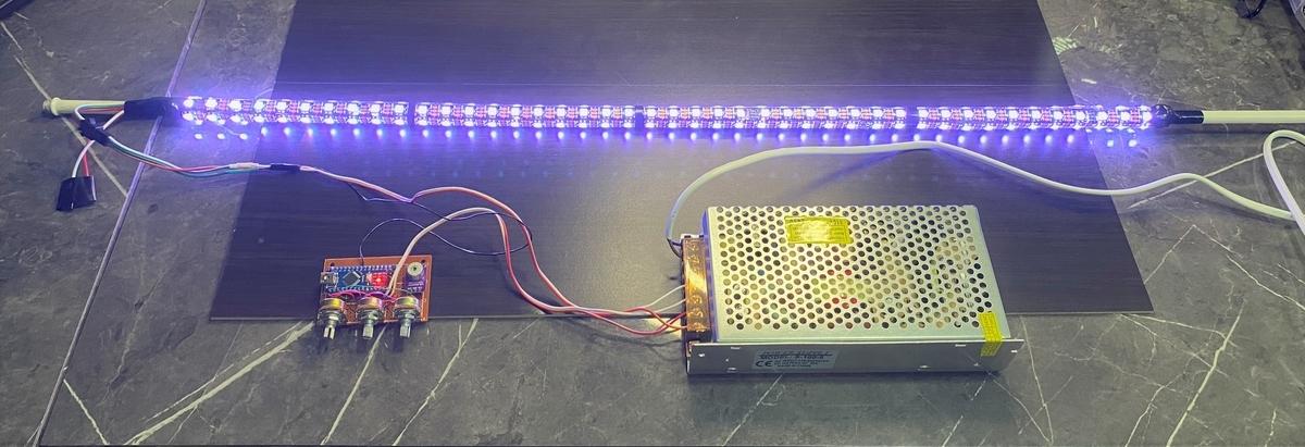 WS2812Bで行燈を改造。(白色)