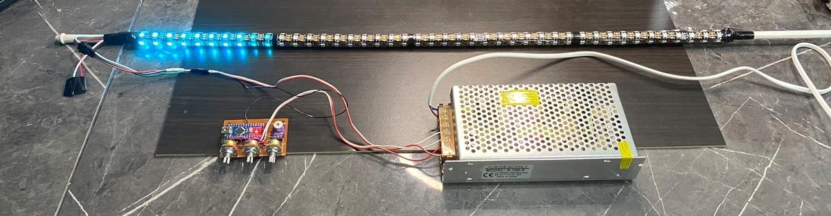 WS2812Bで行燈を改造。(サウンド レベル メーター 好きな色)