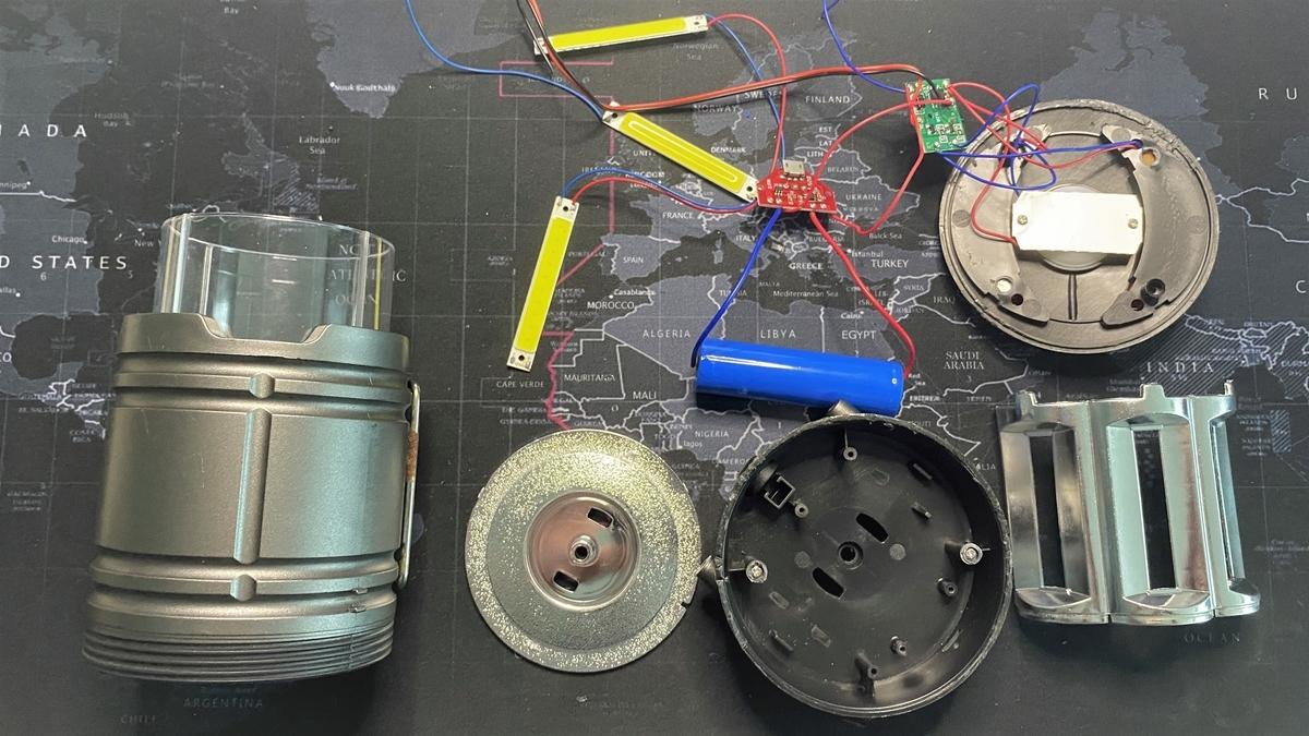 (自己責任で)LEDランタンを改造