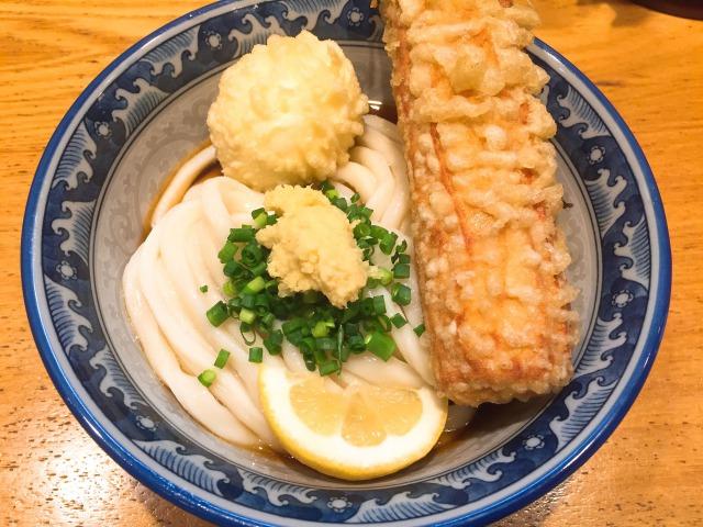 釜たけ流うめだ製麺所_ランチタイム_ちく玉天ぶっかけ_780円 _