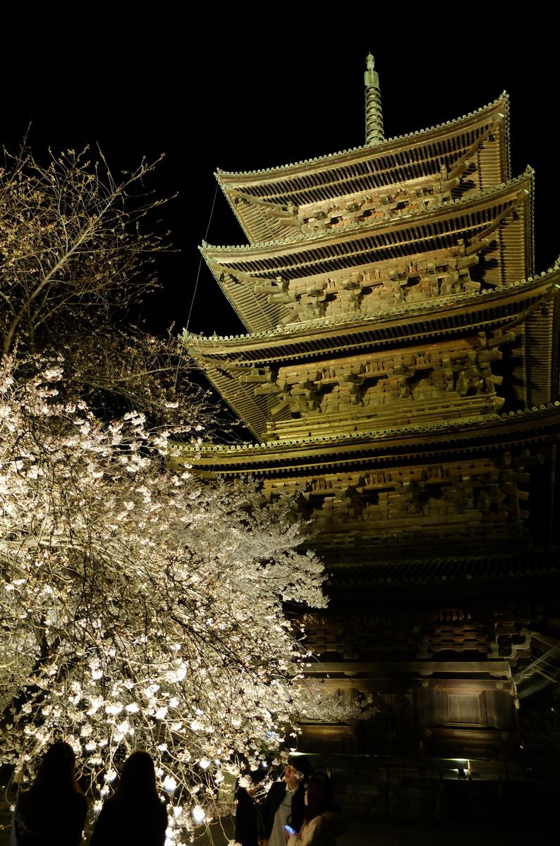 東寺 ライトアップ 五重塔