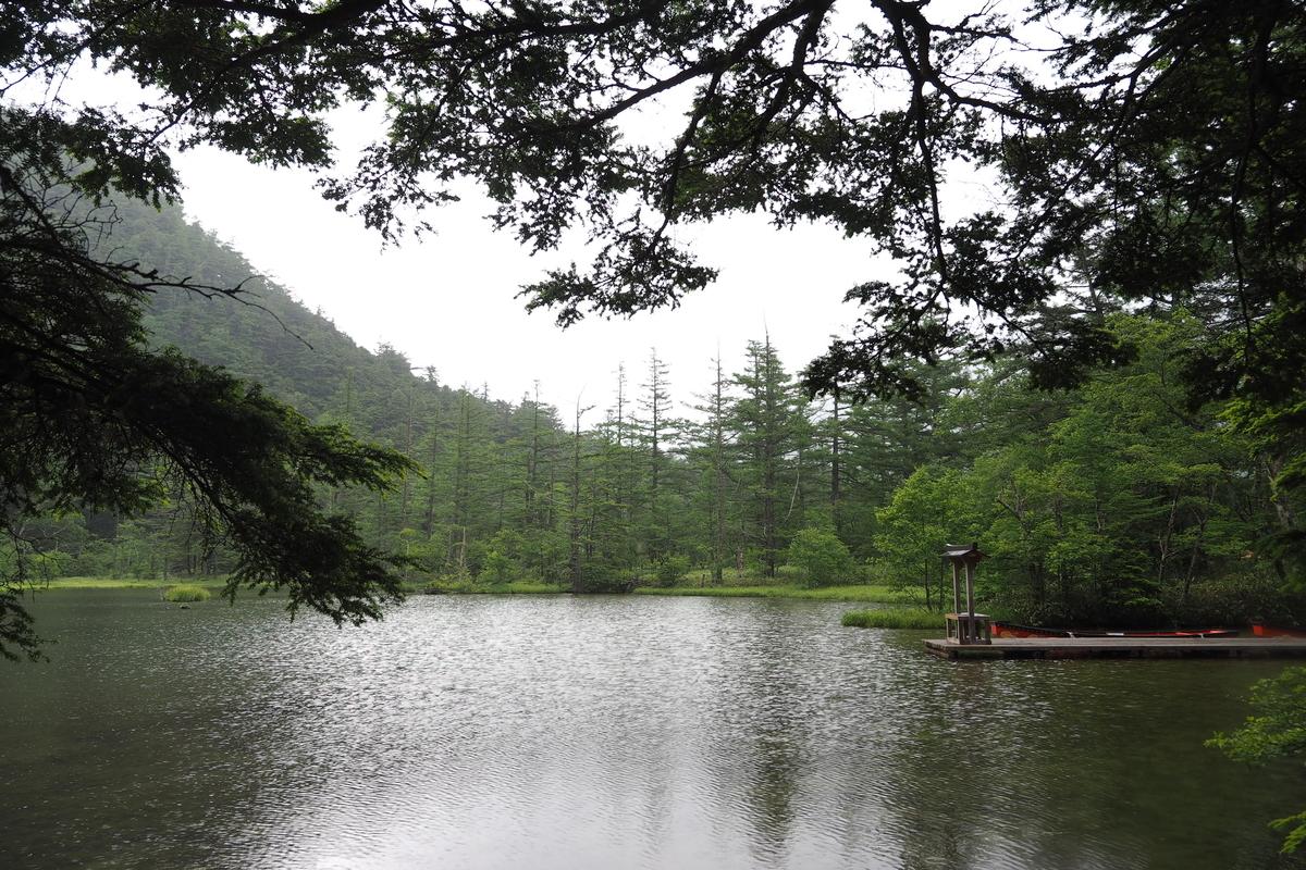 上高地 小梨平 ソロキャンプ 徒歩キャンプ 明神池