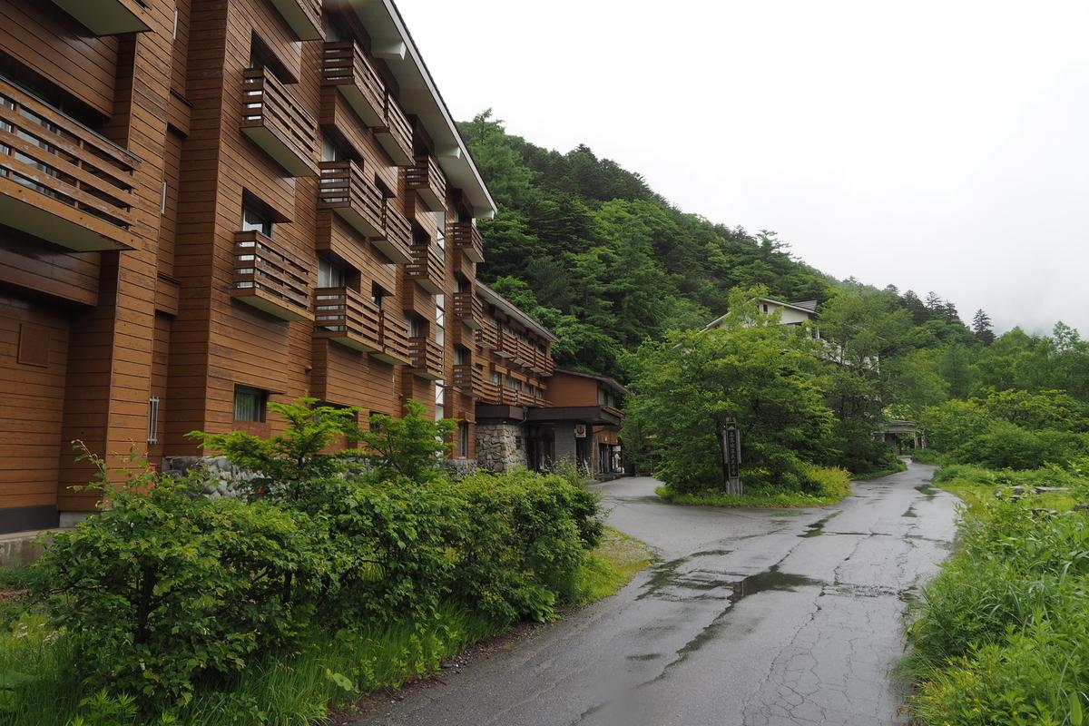 上高地 小梨平 ソロキャンプ 徒歩キャンプ 上高地温泉ホテル