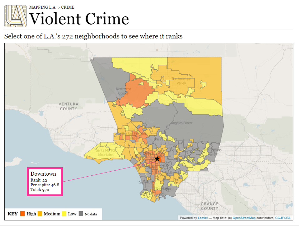 ロサンゼルス ダウンタウン 治安