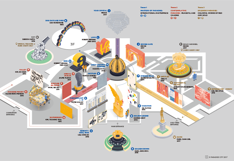 パラダイス・シティのアート・マップ