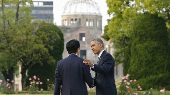 日媒称,安倍与奥巴马在广岛就访问珍珠港达成共识