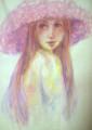 水彩色鉛筆画 女性練習