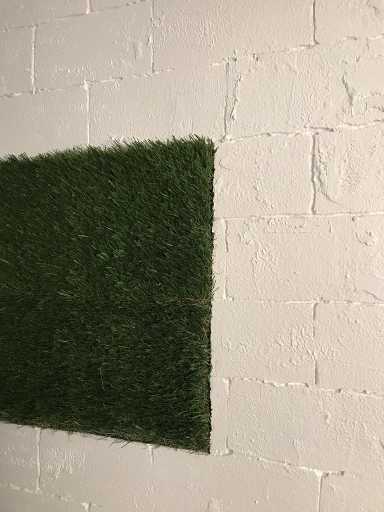 DIY・発泡スチロールレンガの壁・after