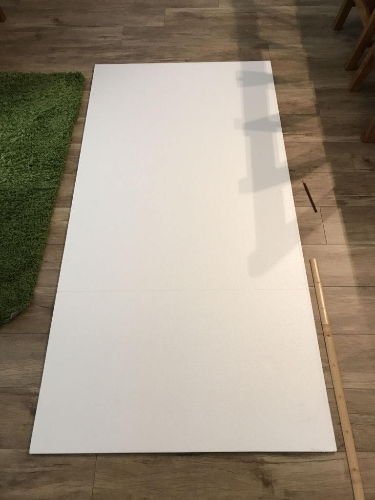 DIY・発泡スチロールレンガの壁・発泡スチロール